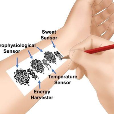 Pensil dan Kertas Sensor Kesehatan